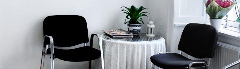 Billede af klinikkens venteværelse